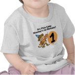 Primer cumpleaños del pequeño mono camiseta