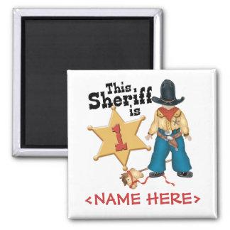 Primer cumpleaños del sheriff iman de nevera