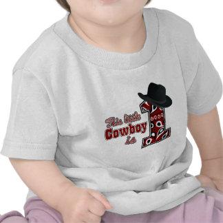 Primer cumpleaños del vaquero camiseta