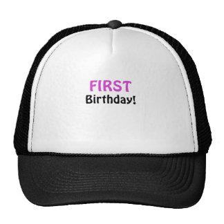 Primer cumpleaños gorro de camionero