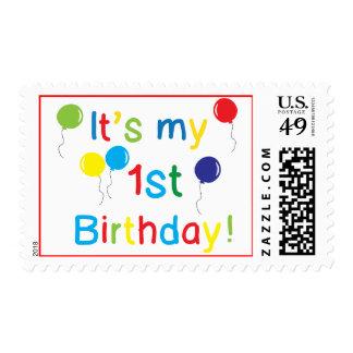 Primer cumpleaños timbres postales