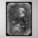 Primer Daguerreotype 1848 de señora Dolley Madison Póster