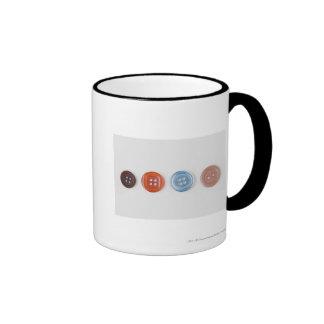 Primer de botones tazas de café