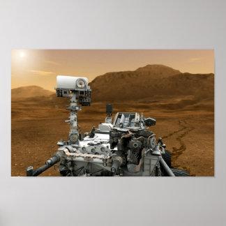 Primer de la curiosidad Rover de Marte Posters