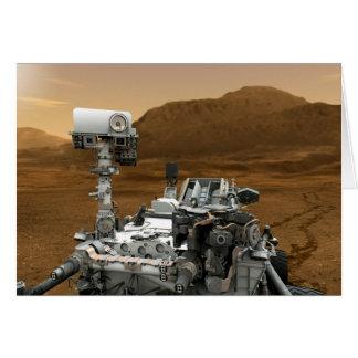 Primer de la curiosidad Rover de Marte Tarjeta De Felicitación