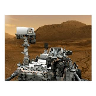 Primer de la curiosidad Rover de Marte Tarjeta Postal