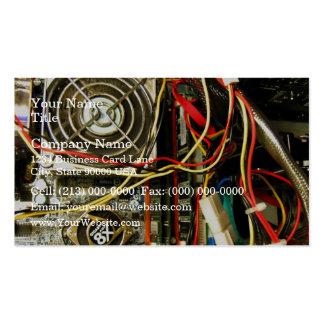 Primer de la electrónica del mainboard del ordenad tarjetas de visita