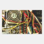 Primer de la electrónica del mainboard del pegatina rectangular