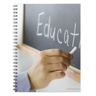 """Primer de la escritura """"educación"""" de la mano del spiral notebook"""