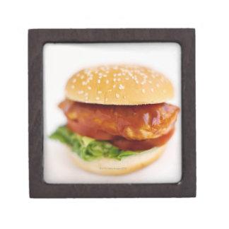 Primer de la hamburguesa del pollo cajas de regalo de calidad