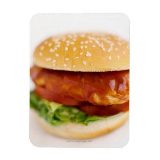 Primer de la hamburguesa del pollo iman de vinilo
