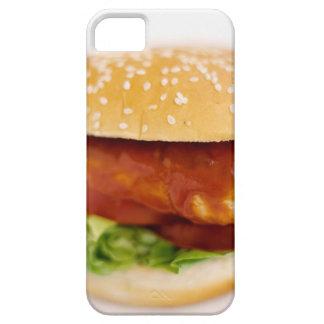 Primer de la hamburguesa del pollo iPhone 5 carcasa