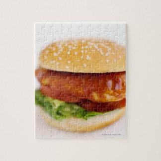 Primer de la hamburguesa del pollo puzzles