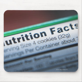 Primer de la información de la nutrición mouse pad