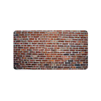 Primer de la pared de ladrillo roja resistida manc etiquetas de dirección
