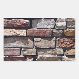 Primer de la piedra y de la pared de ladrillo rectangular pegatina