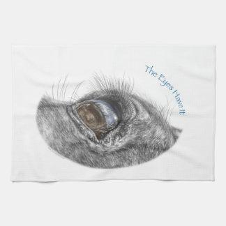 Primer de la reflexión del ojo del caballo toallas
