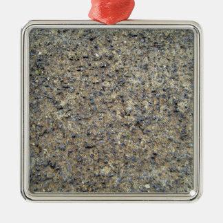Primer de la textura de tierra rocosa adorno cuadrado plateado