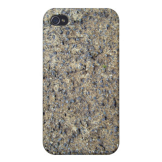 Primer de la textura de tierra rocosa iPhone 4/4S fundas