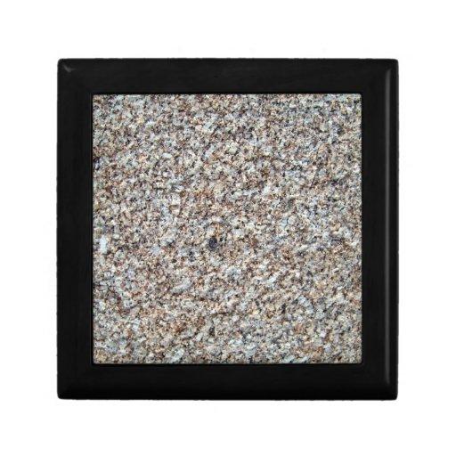 Primer de la textura del fondo del granito joyero cuadrado pequeño