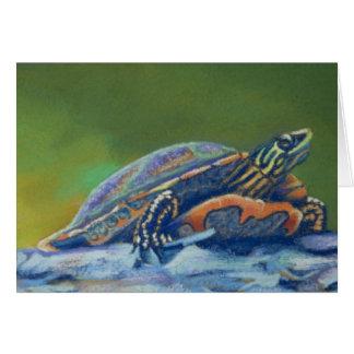 primer de la tortuga de la carta franca tarjeta pequeña