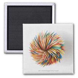 Primer de lápices coloreados imán cuadrado