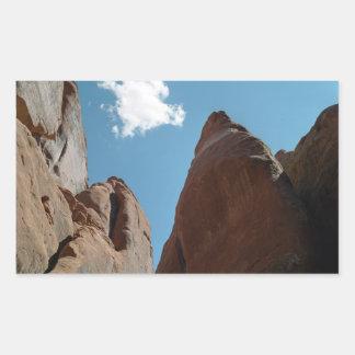 Primer de las aletas de la piedra arenisca pegatina rectangular