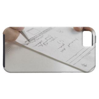 Primer de las manos que firman la prescripción iPhone 5 fundas