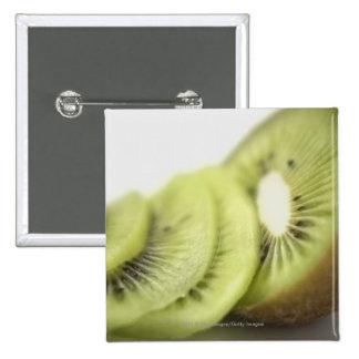 Primer de las rebanadas del kiwi pin cuadrada 5 cm
