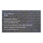 Primer de las tejas de tejado con los liquenes tarjetas de visita