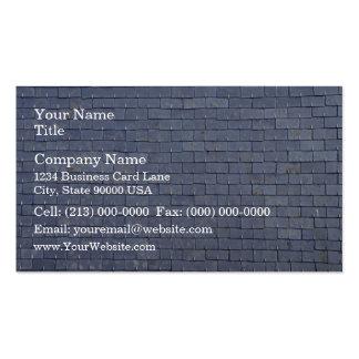 Primer de las tejas de tejado de pizarra tarjetas de visita