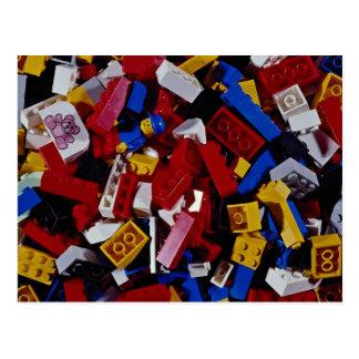 Primer de los bloques huecos de los niños postal