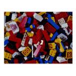 Primer de los bloques huecos de los niños tarjetas postales