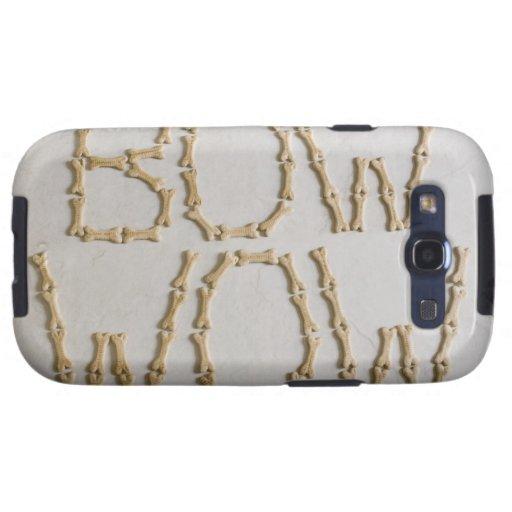 Primer de los textos BOW WOW hecho con las galleta Galaxy S3 Carcasas