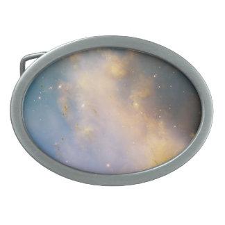 Primer de M27, la nebulosa de la pesa de gimnasia Hebillas De Cinturon Ovales