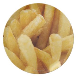Primer de patatas fritas plato