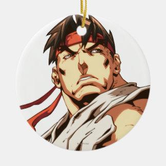 Primer de Ryu Adorno Navideño Redondo De Cerámica