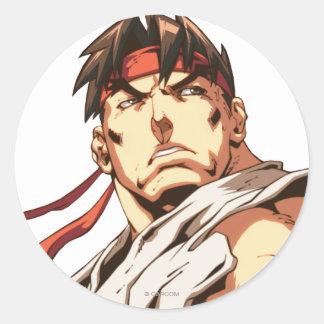Primer de Ryu Pegatina Redonda