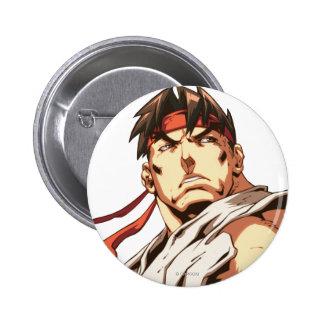 Primer de Ryu Pin Redondo De 2 Pulgadas