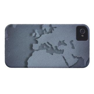 Primer de un globo azul que muestra la África del Carcasa Para iPhone 4 De Case-Mate
