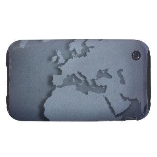 Primer de un globo azul que muestra la África del iPhone 3 Tough Cárcasas