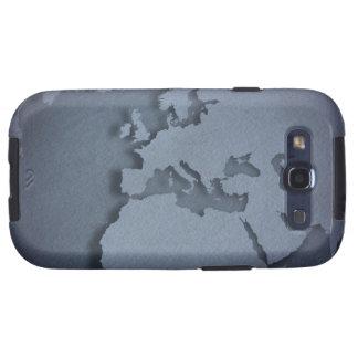 Primer de un globo azul que muestra la África del Samsung Galaxy S3 Protectores