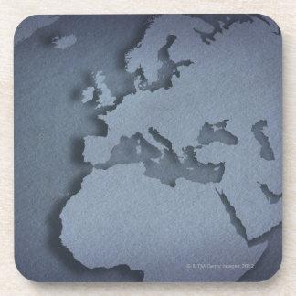 Primer de un globo azul que muestra la África del Posavasos De Bebida