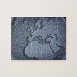 Primer de un globo azul que muestra la África del Rompecabeza Con Fotos