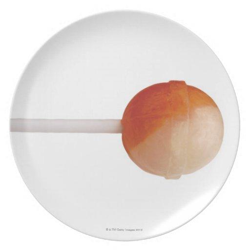 primer de un lollipop plato de cena