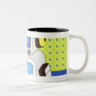 Primer de un robot taza