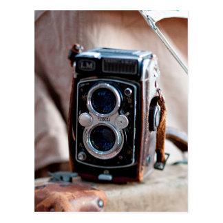 Primer de una cámara antigua postal