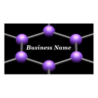 Primer de una estructura molecular 3D (púrpura) Tarjetas De Visita