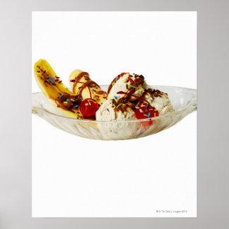Primer de una fractura de plátano póster