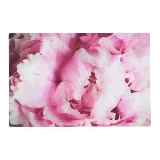 Primer de una pintura rosada del Peony Salvamanteles